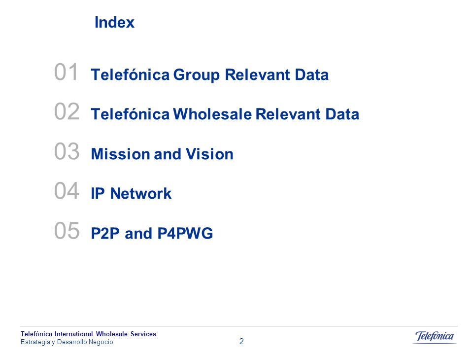 01 Telefónica Group Relevant Data