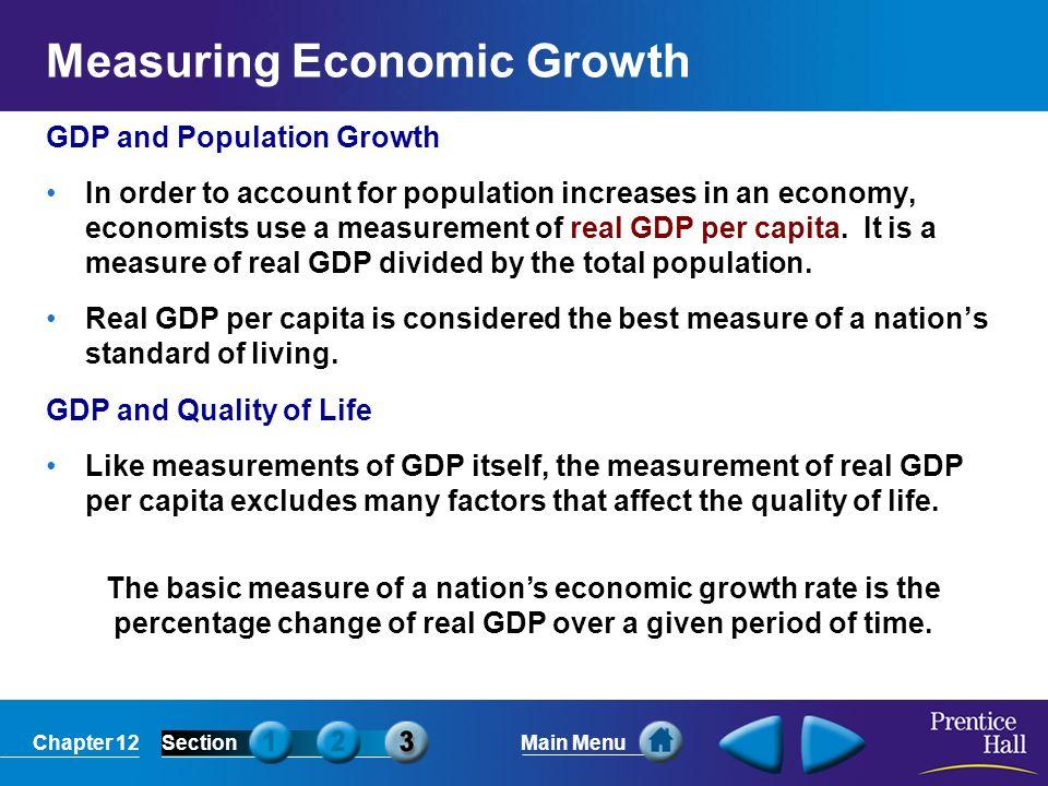 economists use gdp to measure