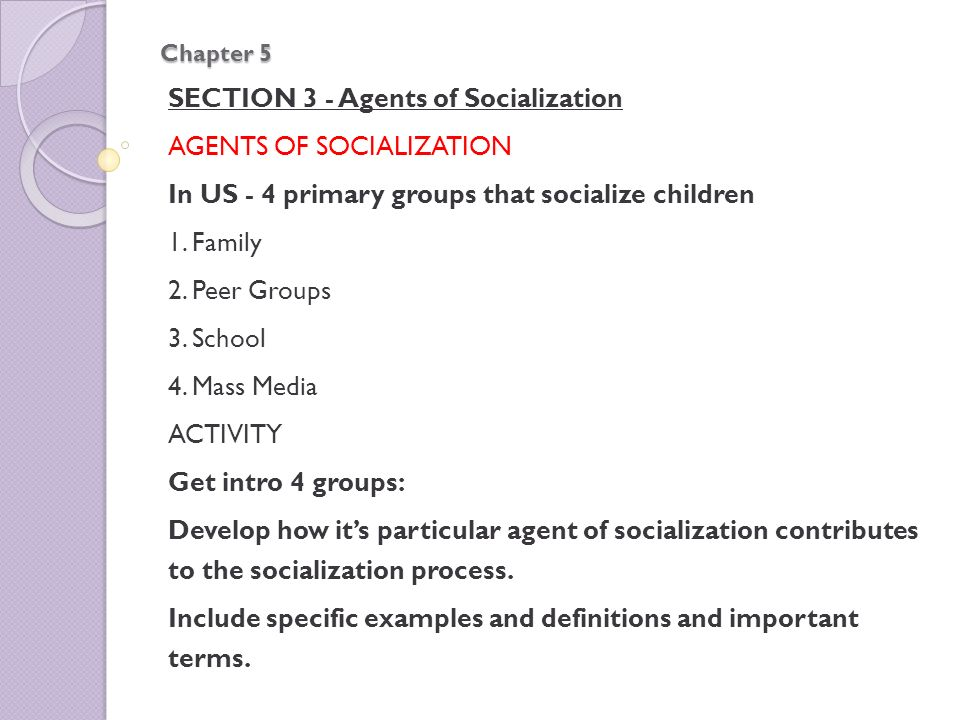 5 agents of socialization