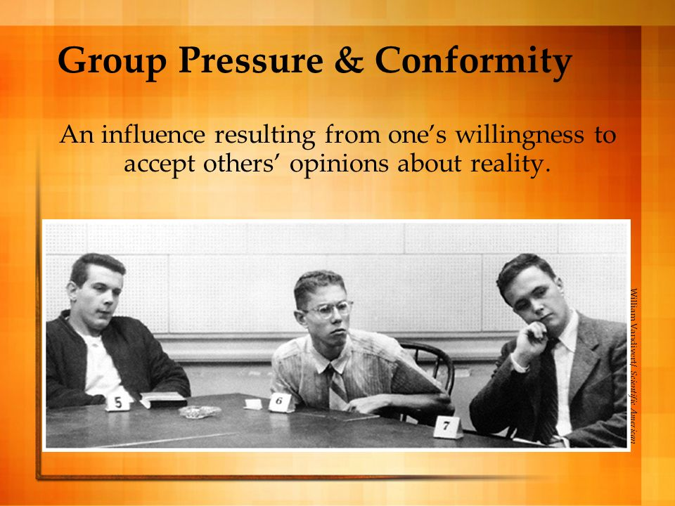 Group Pressure & Conformity