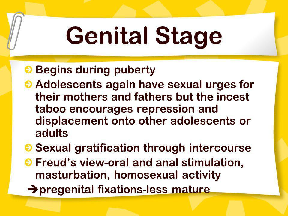 Genital Stage Begins during puberty