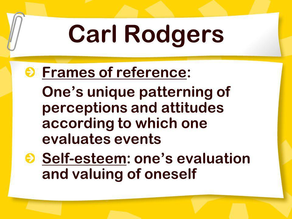 Carl Rodgers Frames of reference: