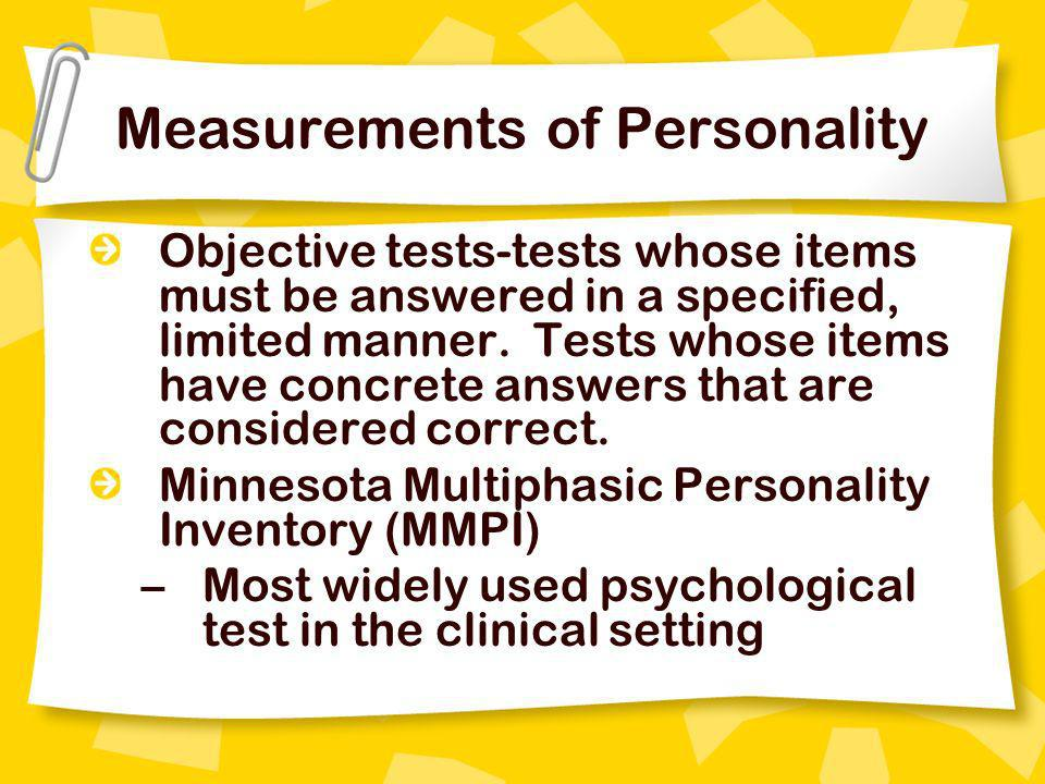 Measurements of Personality