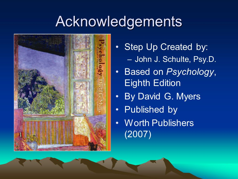 Acknowledgements Step Up Created by: