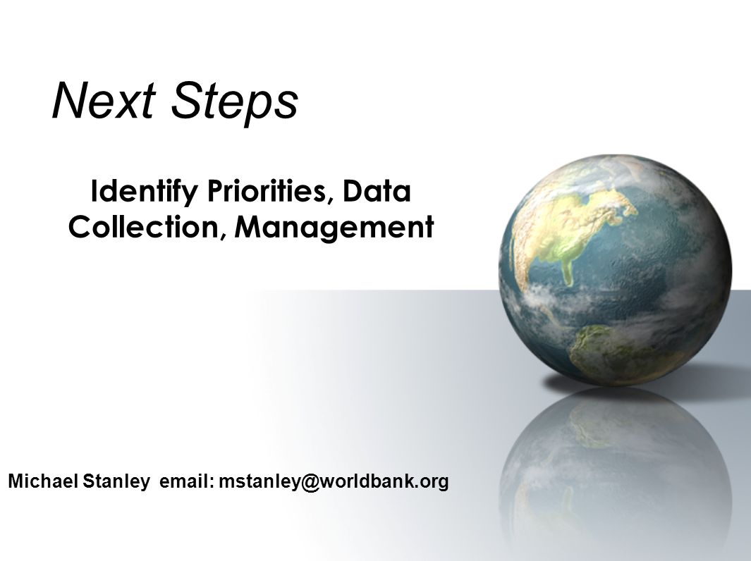 Identify Priorities, Data Collection, Management