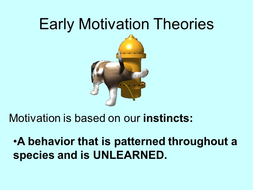 Early Motivation Theories