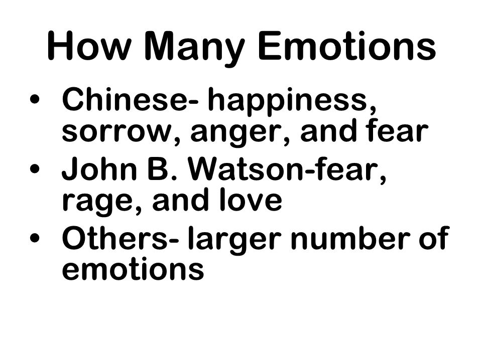 How Many Emotions Chinese- happiness, sorrow, anger, and fear