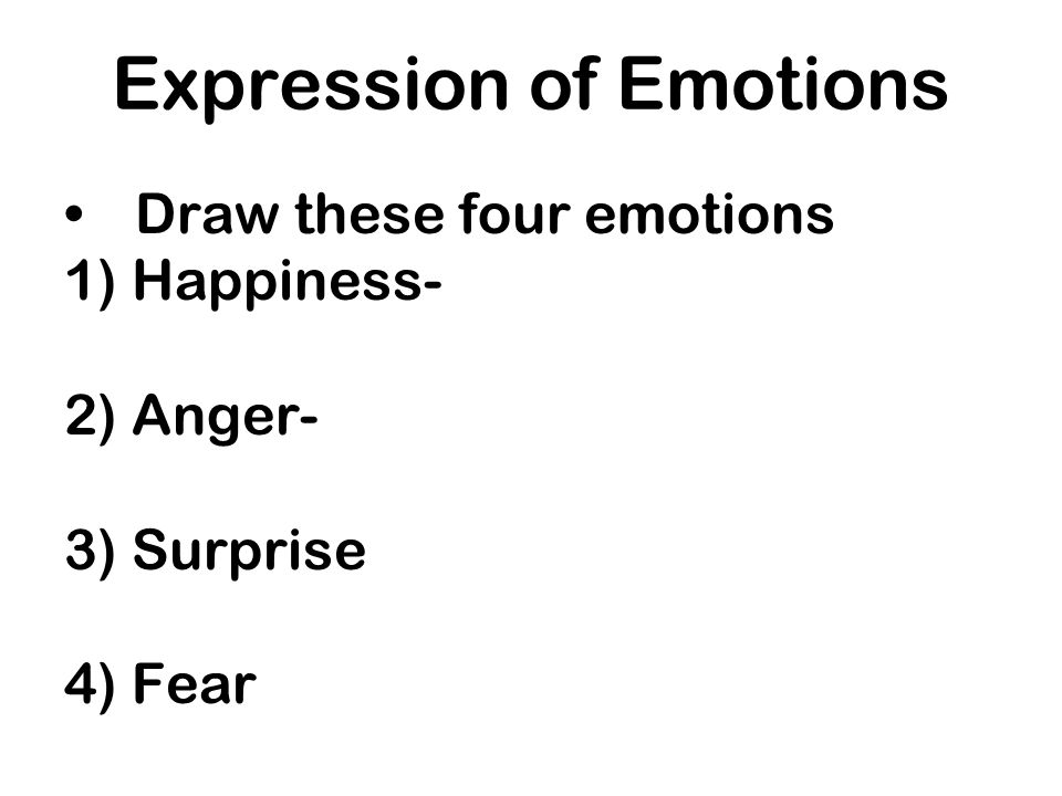 Expression of Emotions
