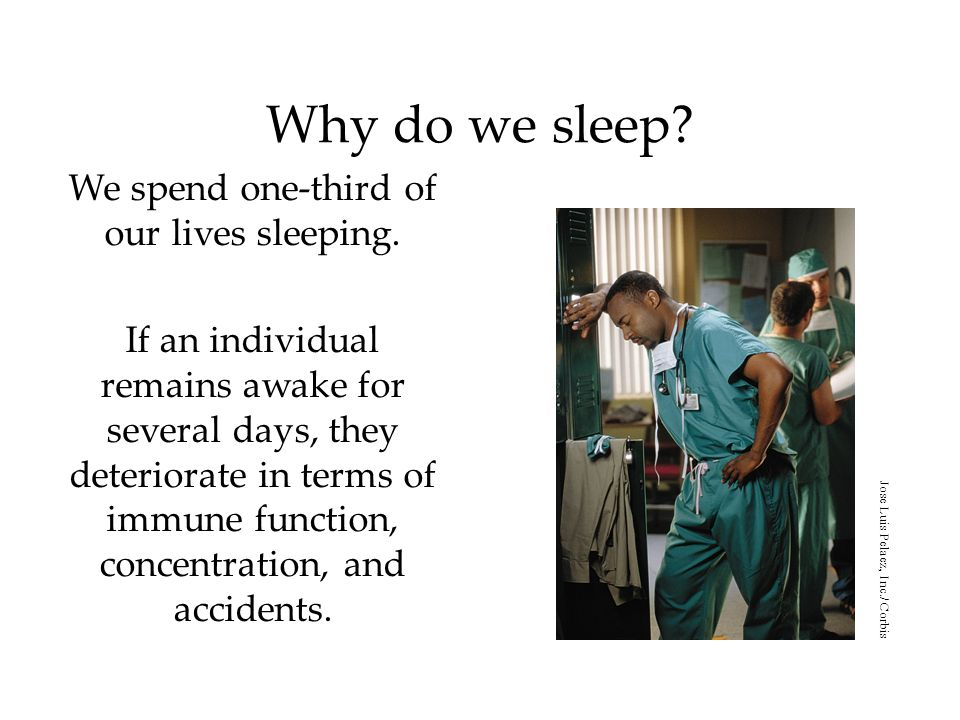 We spend one-third of our lives sleeping.