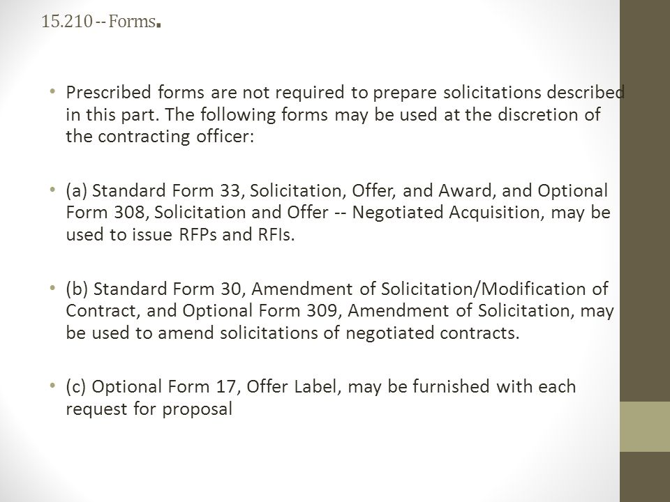 Far Part 15 Contracting By Negotiation Ppt Download