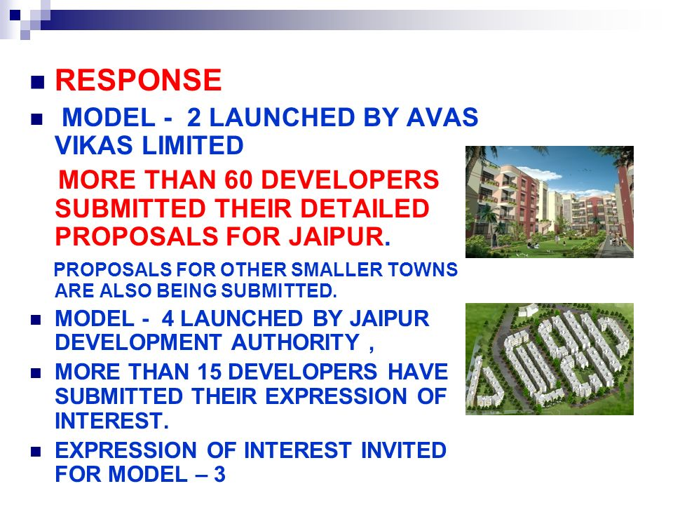 RESPONSE MODEL - 2 LAUNCHED BY AVAS VIKAS LIMITED