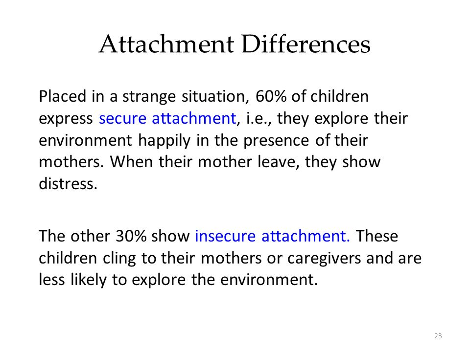 Attachment Differences
