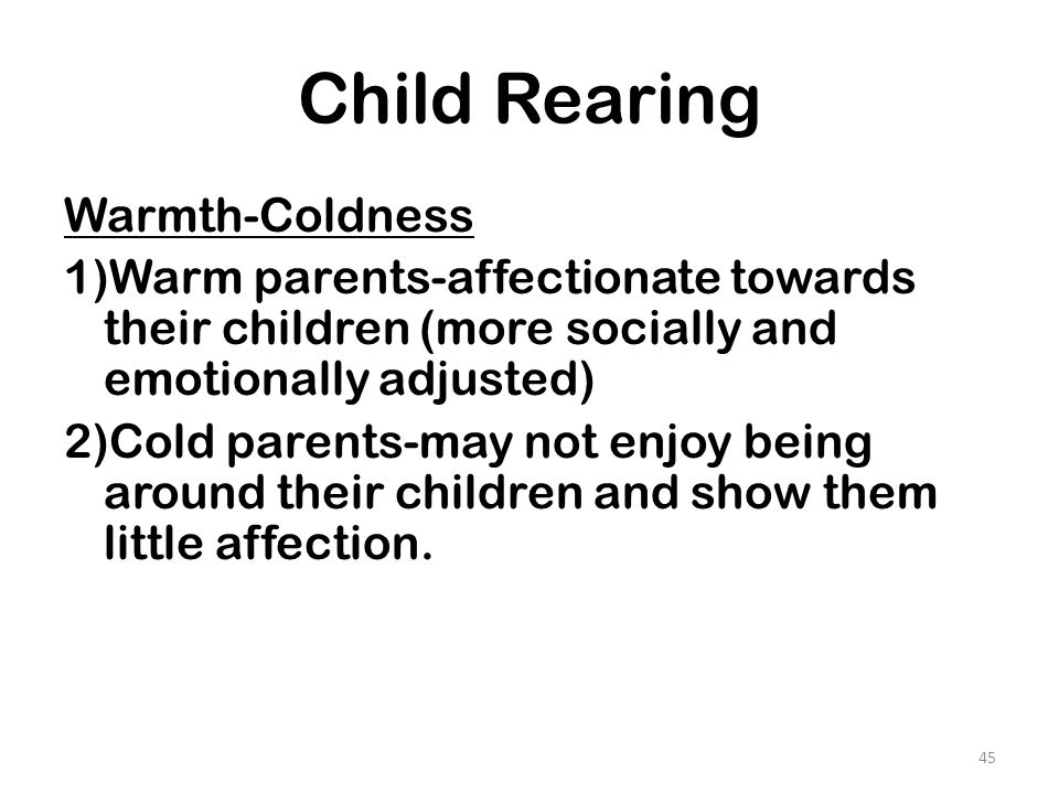 Child Rearing Warmth-Coldness