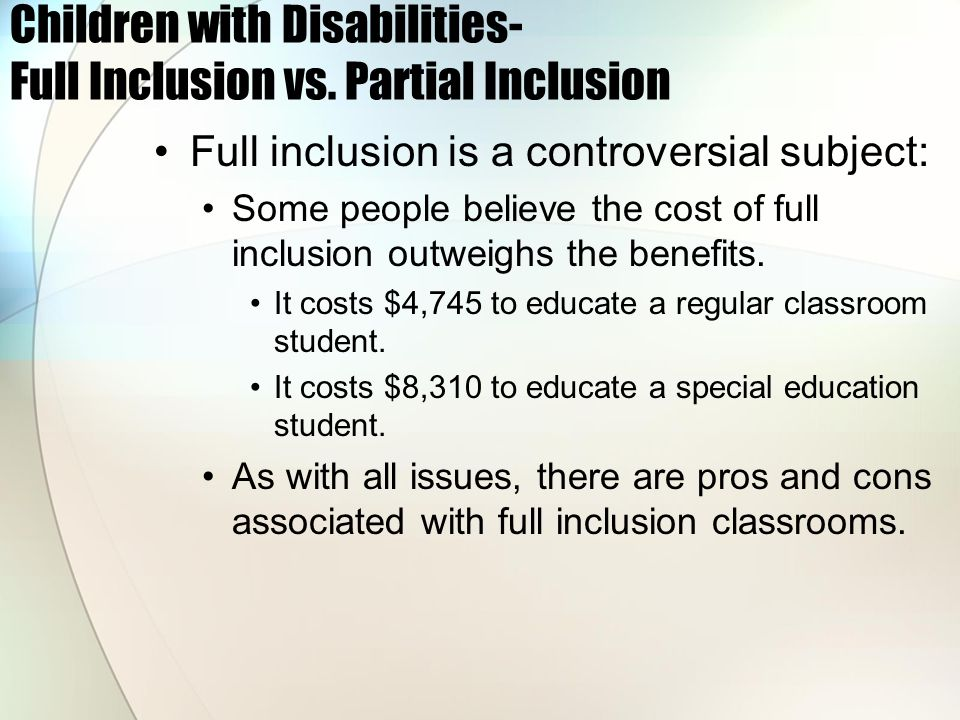 controversial issues special education