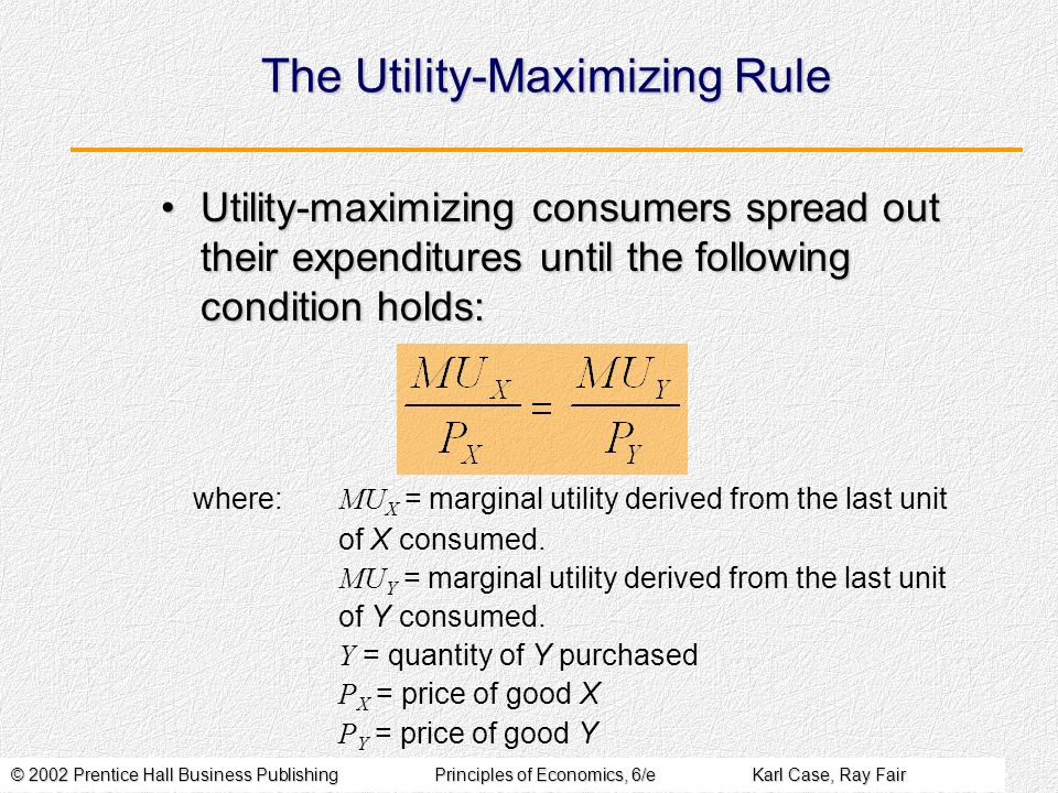 The Utility-Maximizing Rule