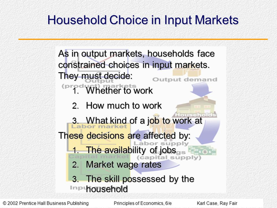 Household Choice in Input Markets