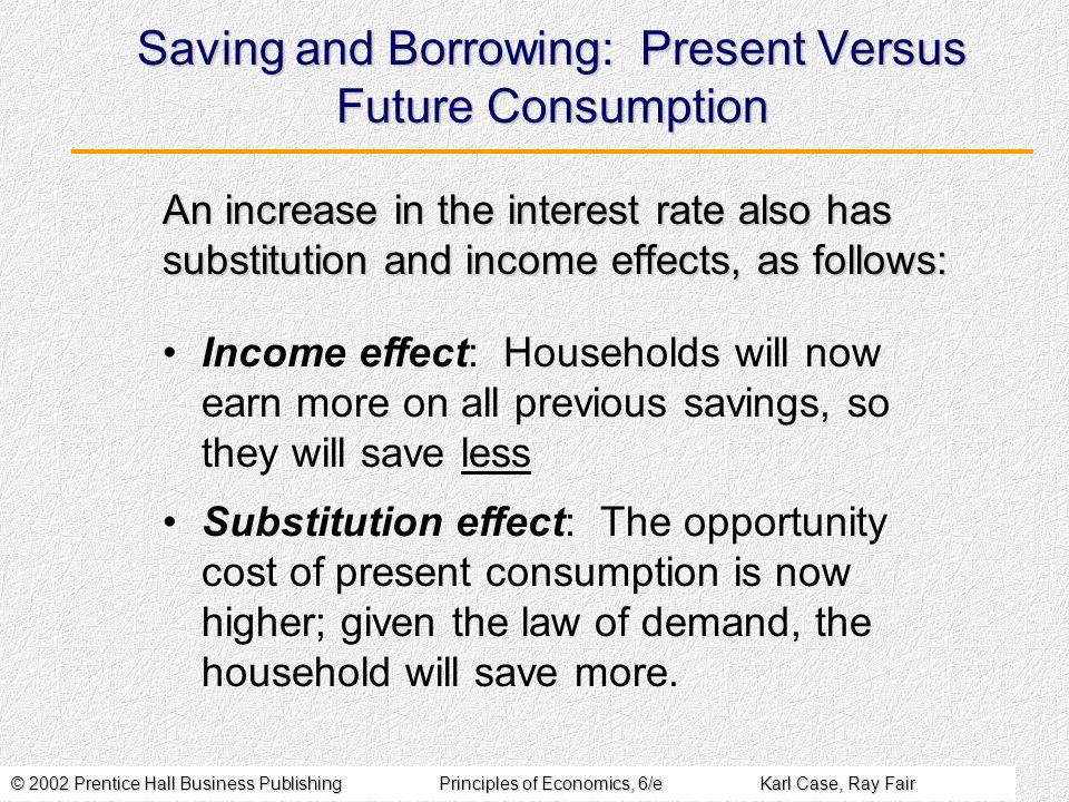 Saving and Borrowing: Present Versus Future Consumption