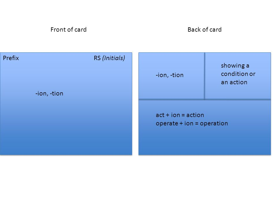 showing a condition or an action -ion, -tion