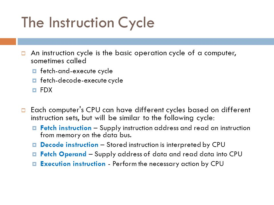 Fetch-decode-execute cycle youtube.