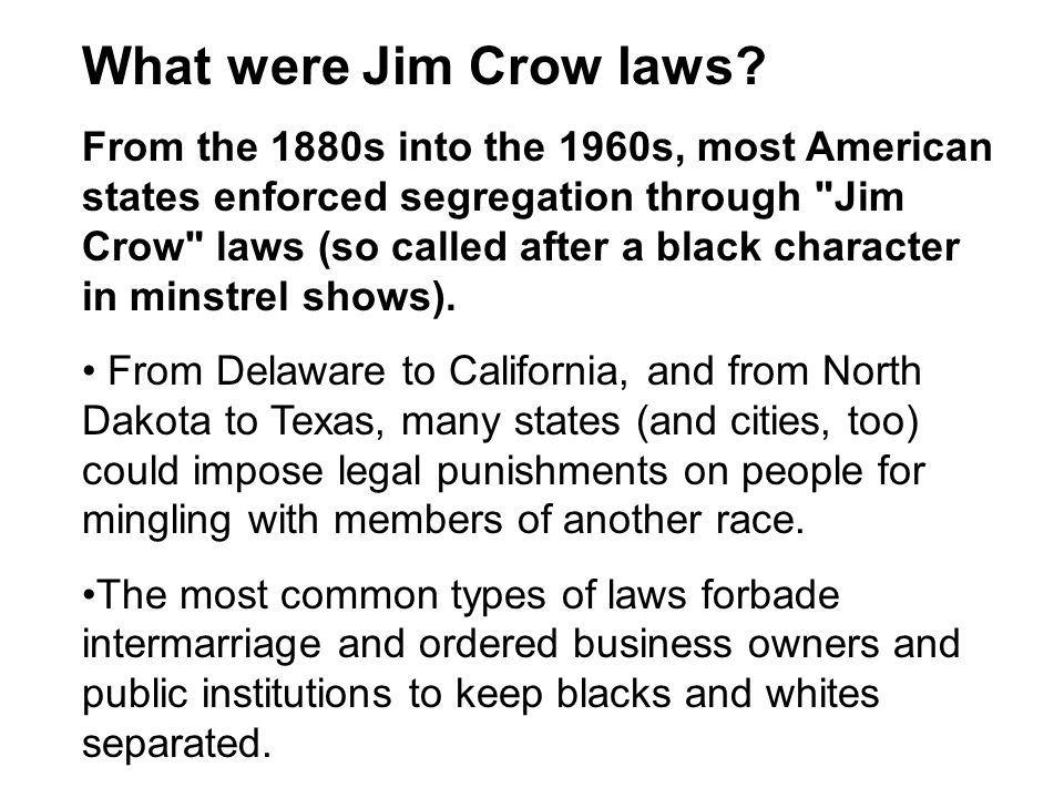 the new jim crow essay The new jim crow is a revelation to the community of the activists and the society it is an excellent book because it explores the rights of the oppressed it also challenges the justice system to restructure its mandates to serve the purpose of crime mitigation rather than try to administer innocent black americans.