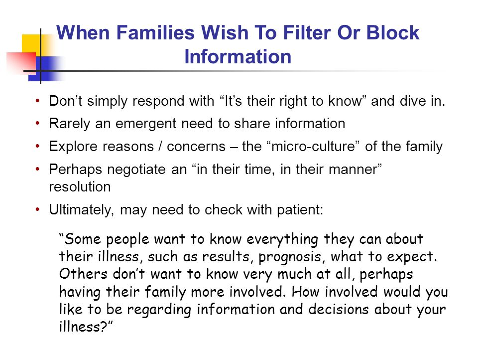 When Families Wish To Filter Or Block Information