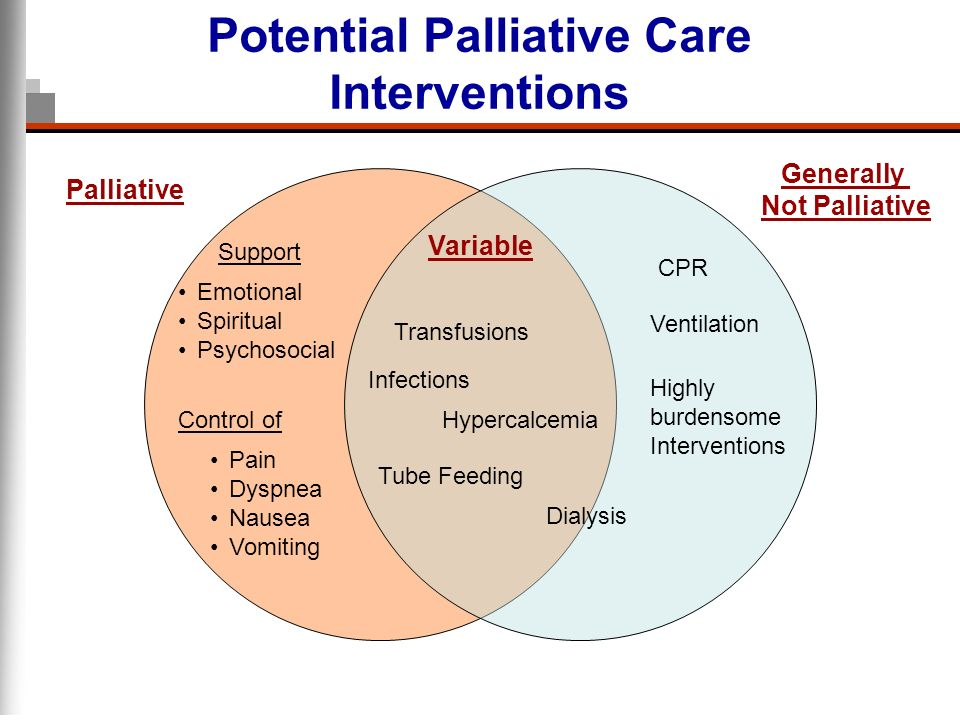 Potential Palliative Care Interventions
