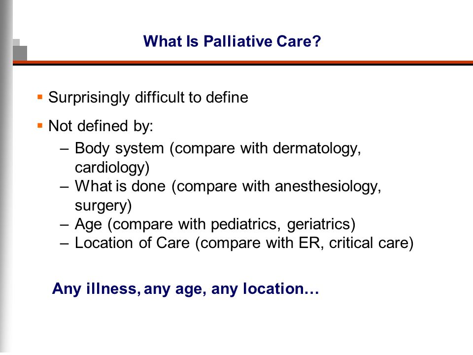 Palliative Care Overview And Concepts - ppt video online