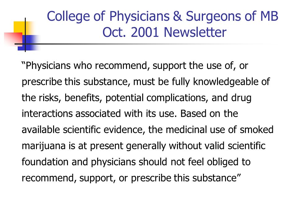 College of Physicians & Surgeons of MB Oct. 2001 Newsletter