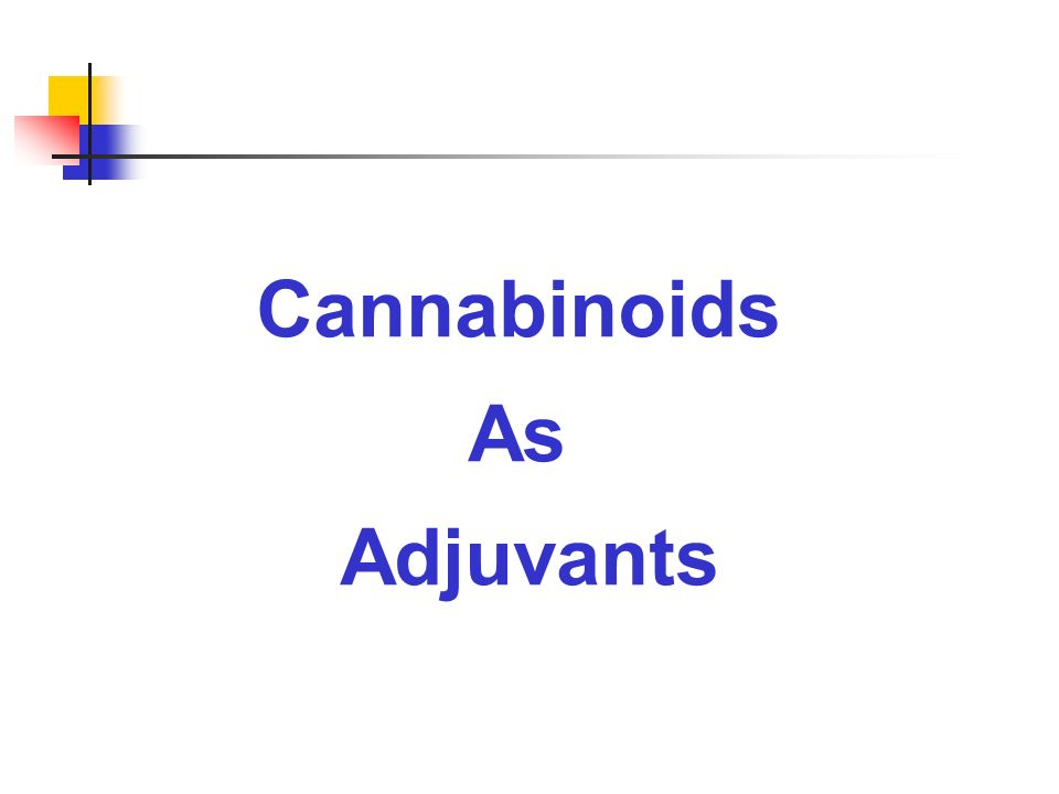Cannabinoids As Adjuvants