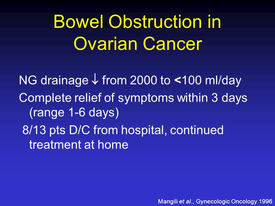 Bowel Obstruction in Ovarian Cancer