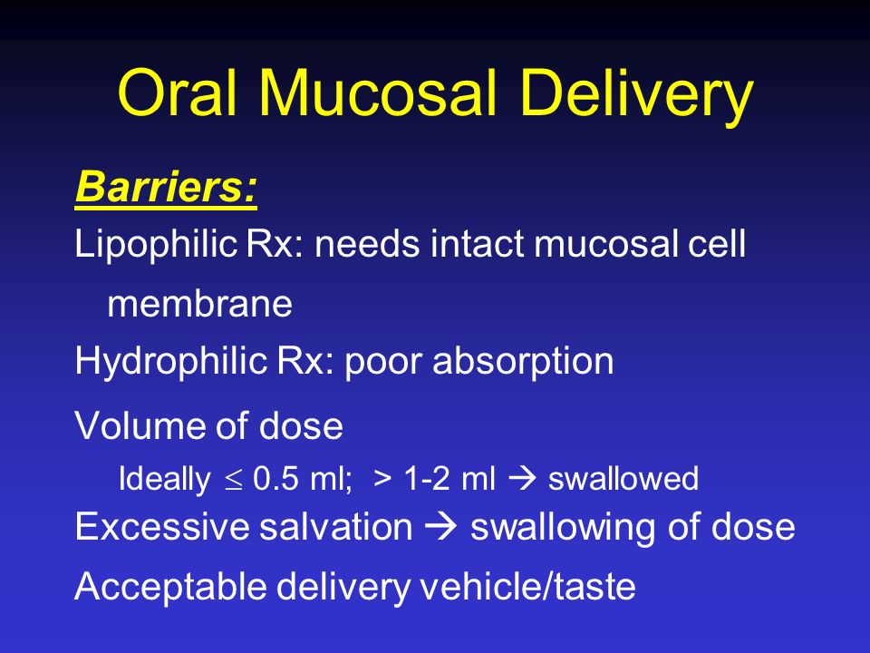 Oral Mucosal Delivery Barriers:
