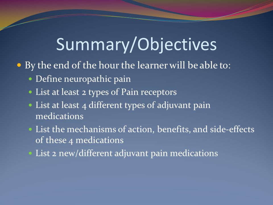Summary/Objectives By the end of the hour the learner will be able to: