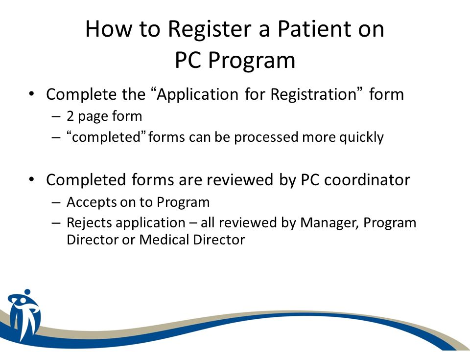 How to Register a Patient on PC Program