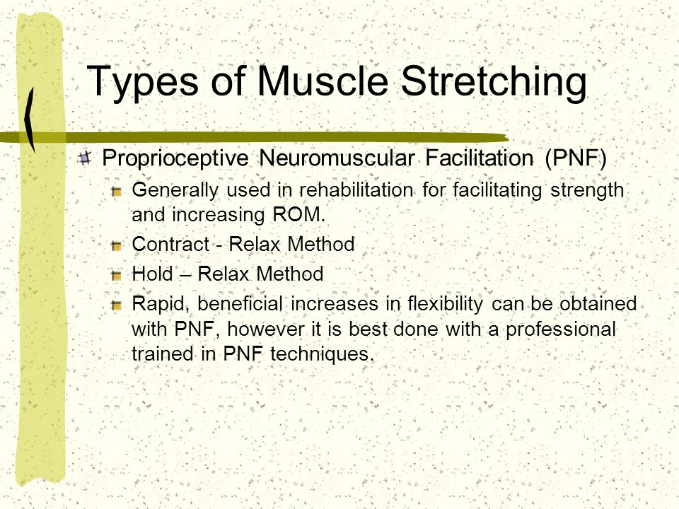 Types of Muscle Stretching