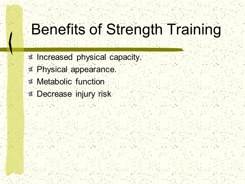 Benefits of Strength Training