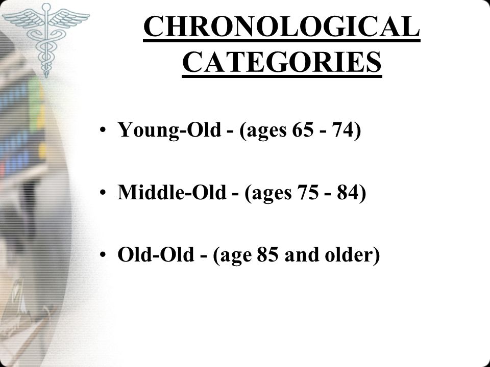 CHRONOLOGICAL CATEGORIES