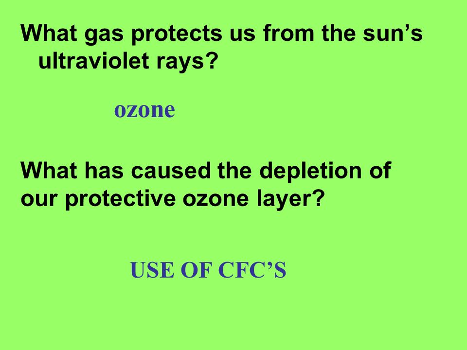 ozone What gas protects us from the sun's ultraviolet rays