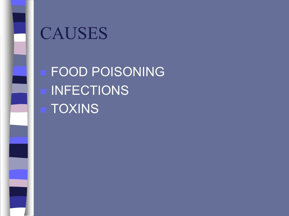 CAUSES FOOD POISONING INFECTIONS TOXINS