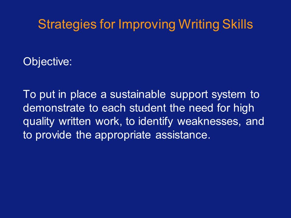 Strategies for Improving Writing Skills