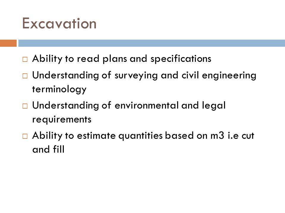 Estimation 1 Lesson 4 Excavation Ppt Video Online Download