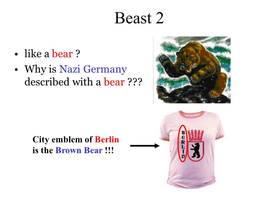 Beast 2 like a bear Why is Nazi Germany described with a bear