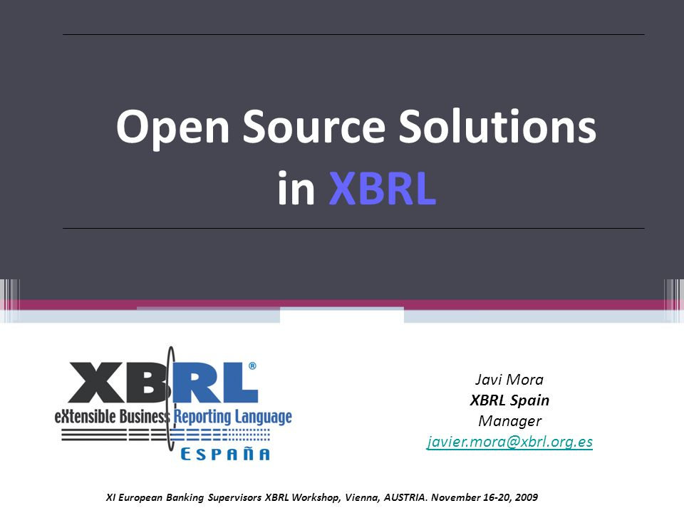 Open Source Solutions in XBRL