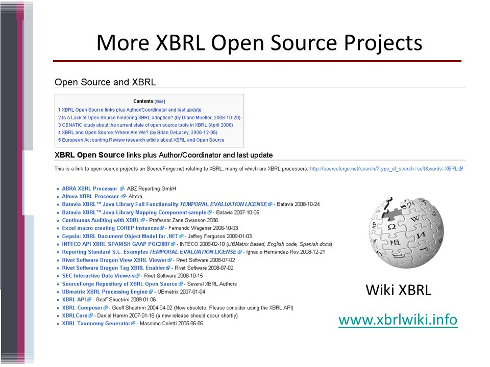 More XBRL Open Source Projects