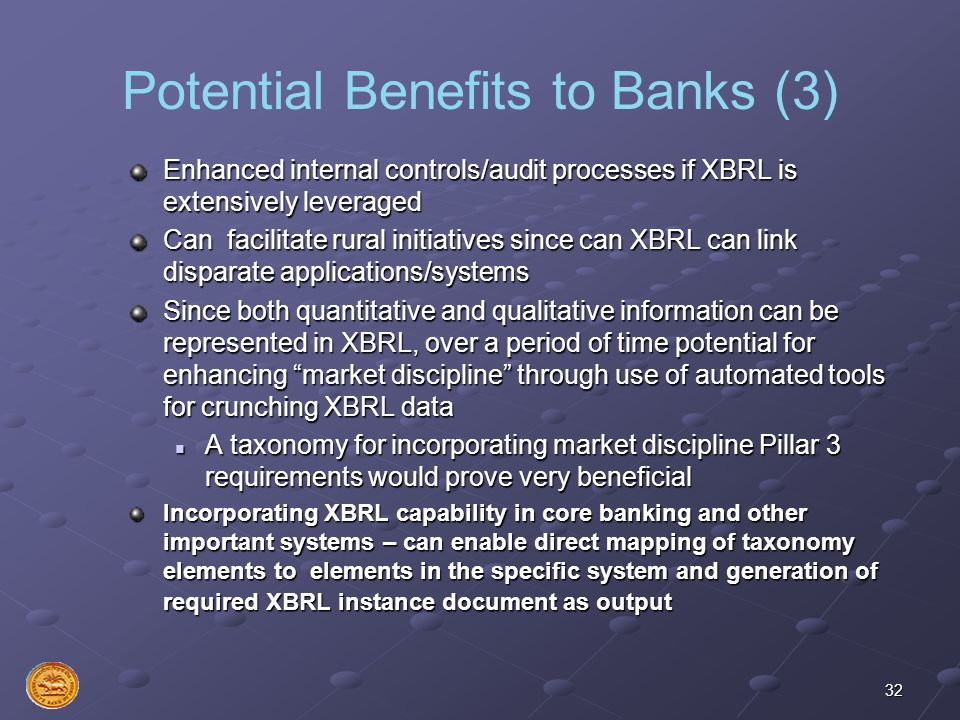 Potential Benefits to Banks (3)