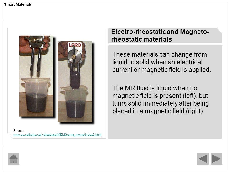 electro rheostatic fluid