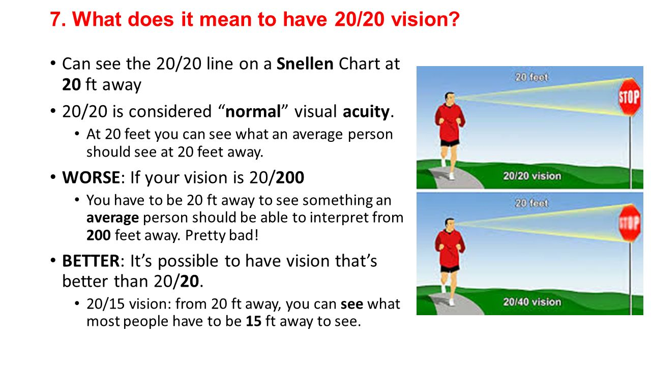 What does it mean to have 20/20 vision