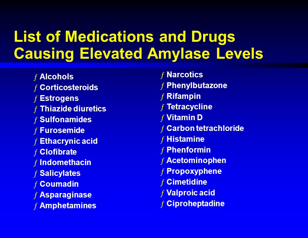 Amylase increased: types, causes and rate indicator 58