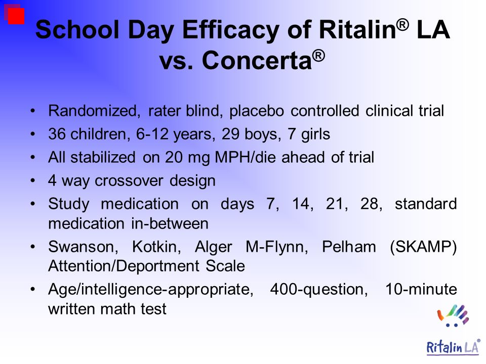 Ritalin® & AD/HD just calming the troublemaker ??? Dr med Sven