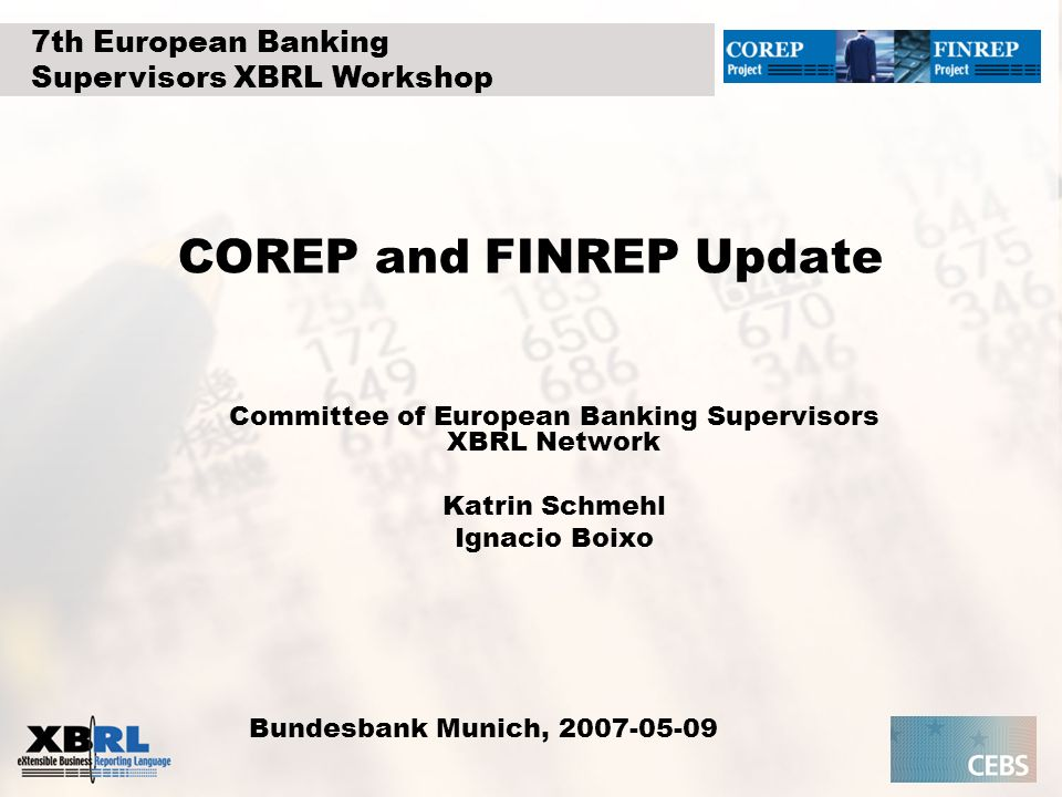 COREP and FINREP Update