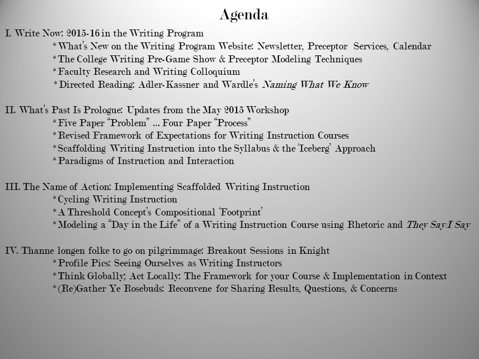 Mercer writing program faculty development workshop ppt download agenda i write now in the writing program altavistaventures Gallery